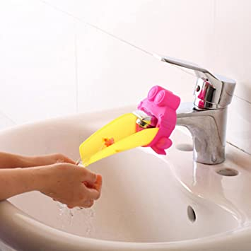 Amazon.com : Water Chute Cute Frog Bathroom Sink Faucet Chute ...