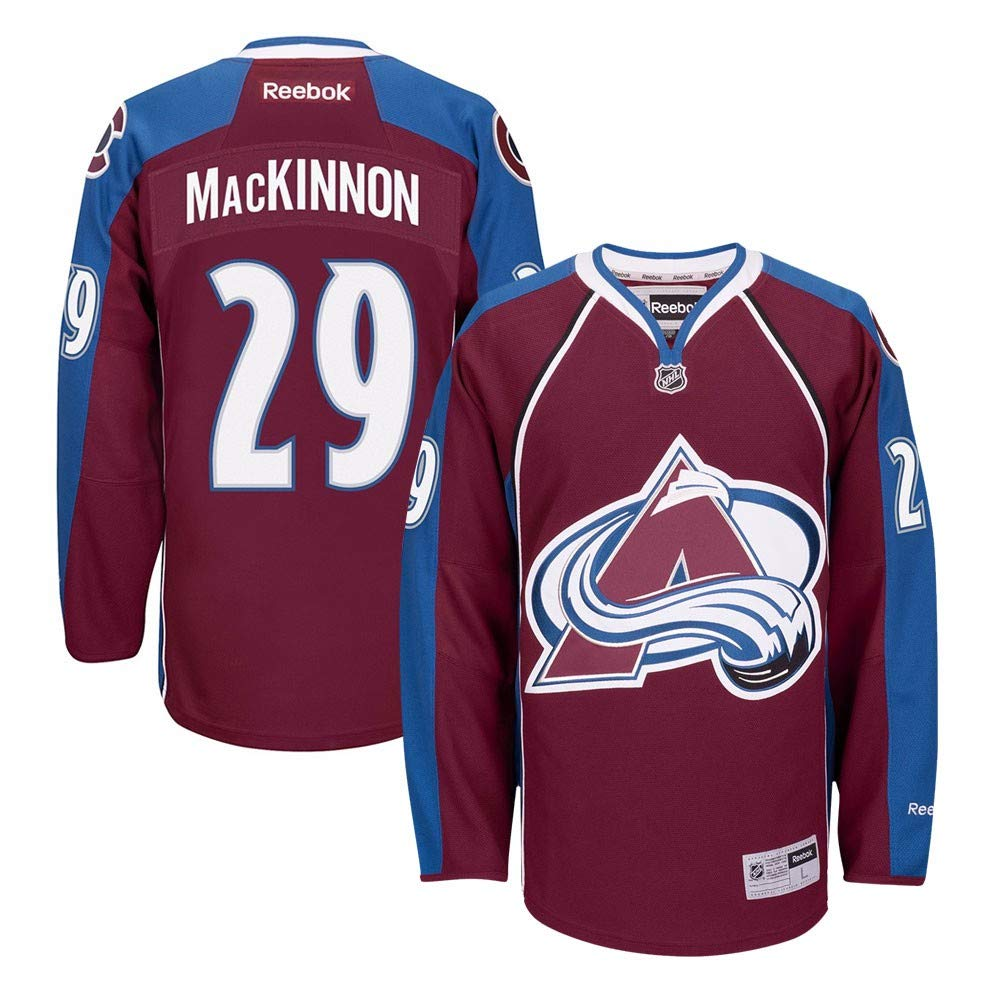 sale retailer 24592 0786b Reebok Nathan MacKinnon Colorado Avalanche NHL Burgundy Official Premier  Home Jersey Men
