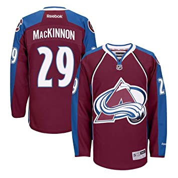 sale retailer f086e d2137 Reebok Nathan MacKinnon Colorado Avalanche NHL Burgundy Official Premier  Home Jersey Men