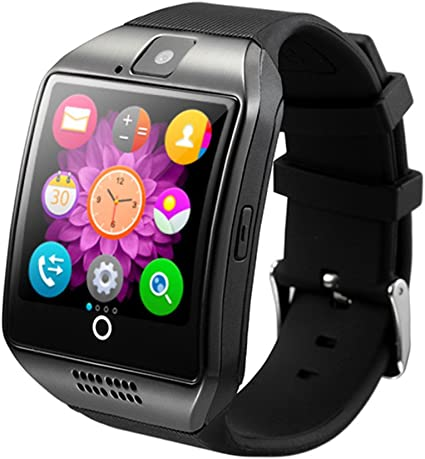 Generic Original Q18 with Camera TF/SIM Card Slot Bluetooth Smartwatch Smart Phone for Android and iOS Black