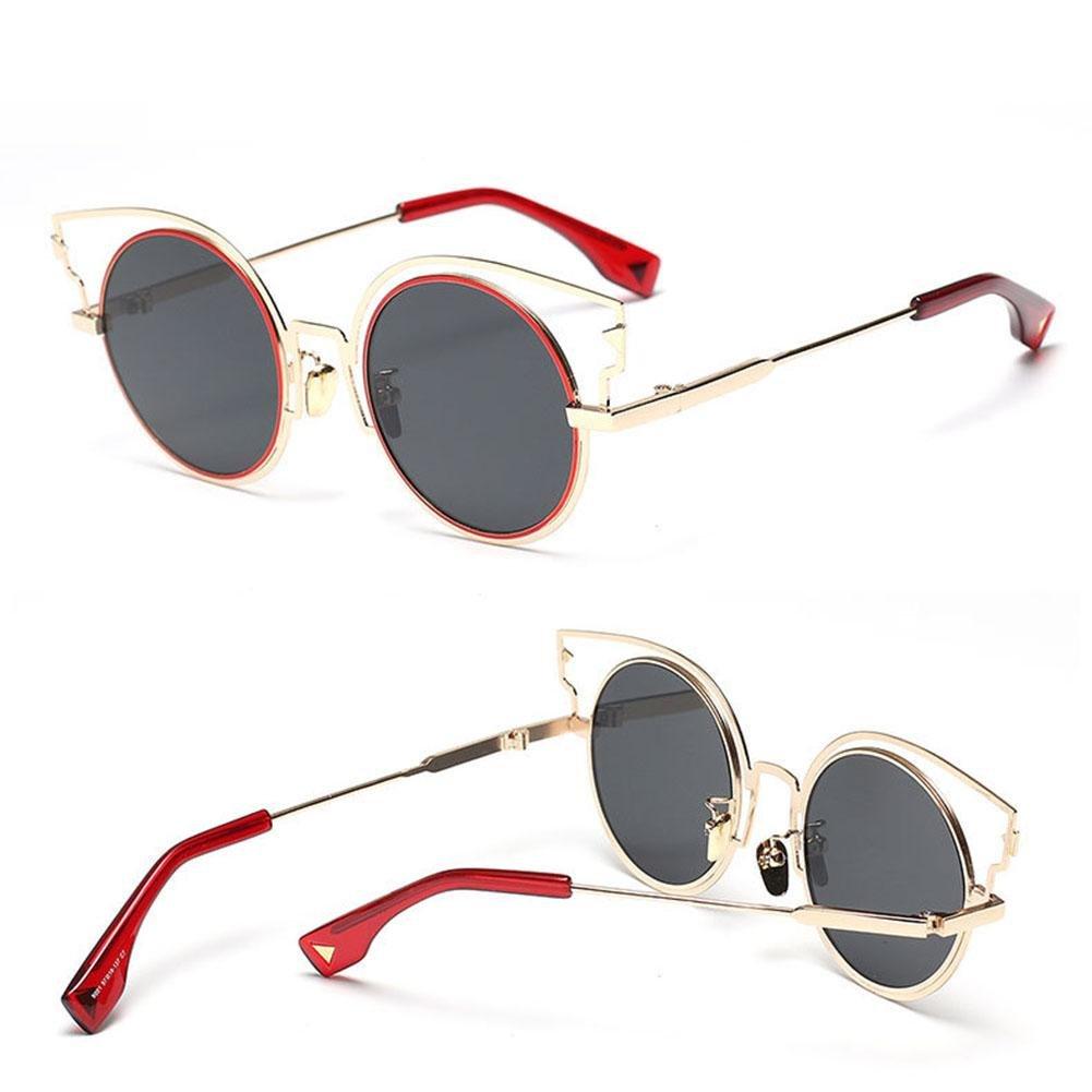 Z&YQ Occhiali da sole fashion Occhiali da vista in metallo con montatura in metallo anti-UV, E