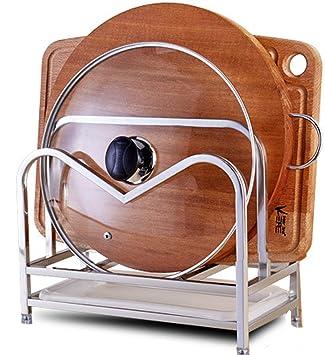 304 Cocina de Acero Inoxidable Para Hornear Rack Pan Organizador y Tabla de cortar/Bloques de cuchillo Rack Holder Stand Organizador Cesta: Amazon.es: Hogar