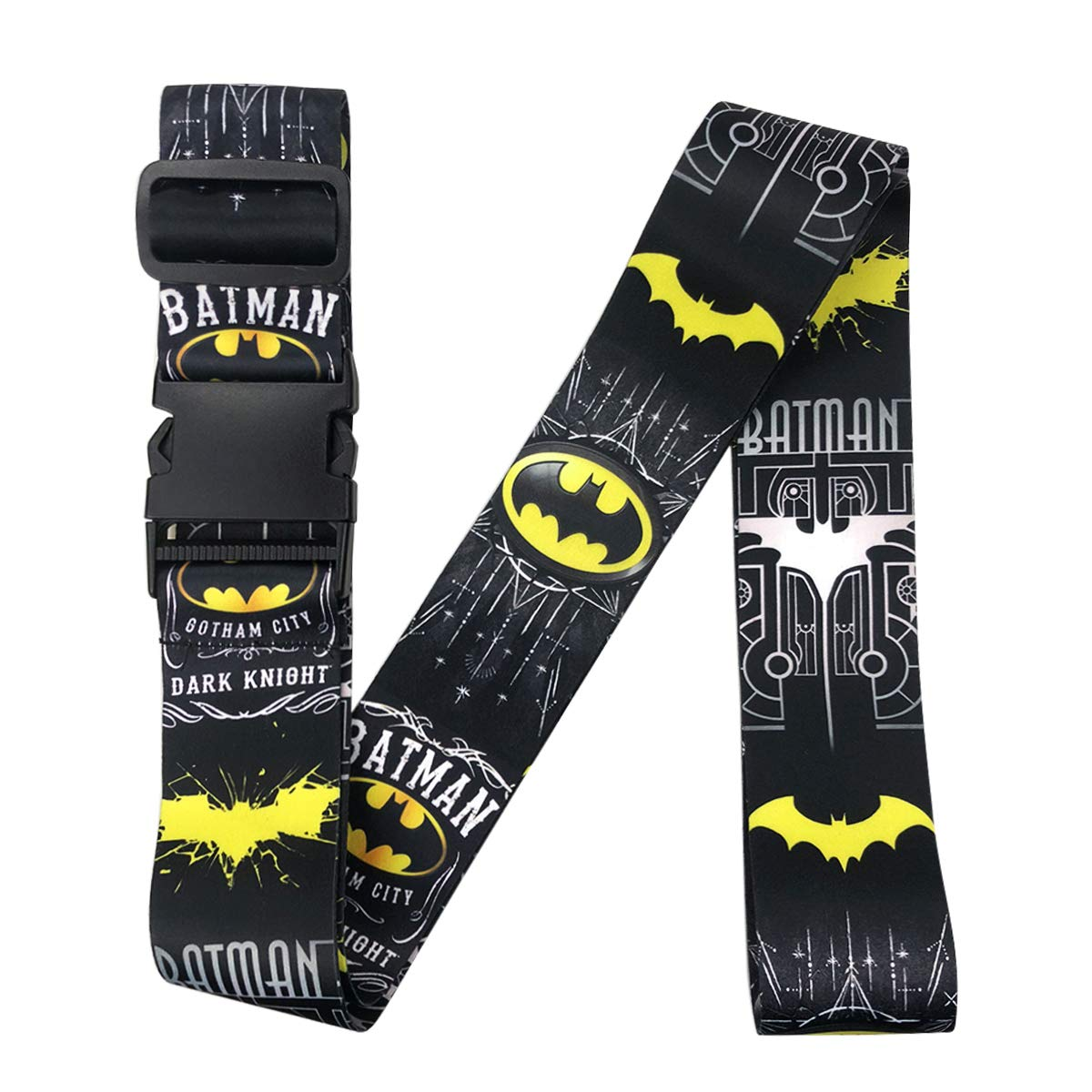 Dolopow Adjustable Luggage Straps - Batman Heavy Duty Suitcase Straps Belt Accessories for Travel Luggage 2Pack