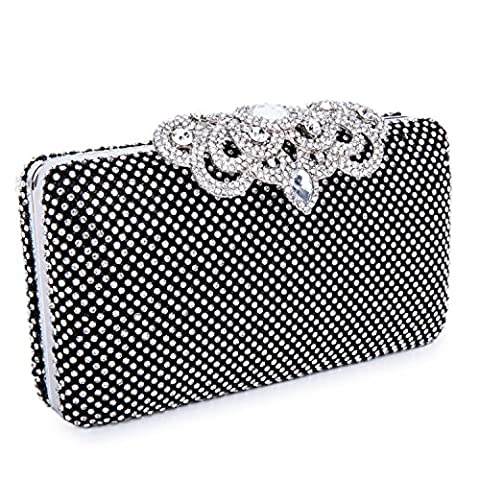 Clocolor Crown Clutch Purse and Peacock Rhinestone Box Evening Bag