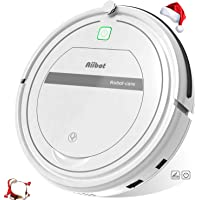 Aiibot Robot Aspirador Limpieza Inteligente, Succión Poderosa, Apto para Pelo Animal/Suelo de Madera/de Baldosa/Alfombra, Sistema de Prevención de Caída, Dual Filtro, Control Remoto
