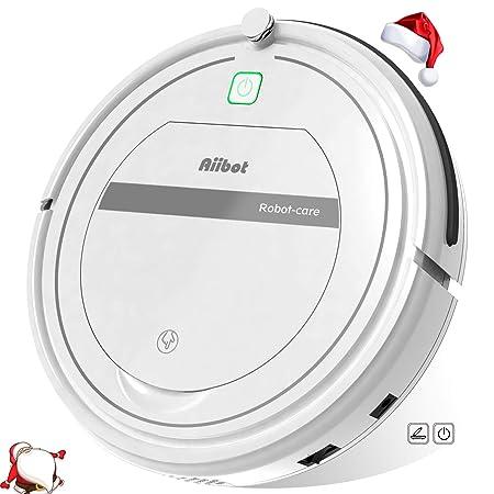 Aiibot Robot Aspirador Limpieza Inteligente, Succión Poderosa, Apto para Pelo Animal/Suelo de Madera/de Baldosa/Alfombra, Sistema de Prevención de ...