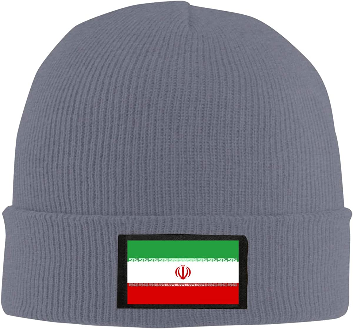 BF5Y6z/&MA Mens and Womens Flag of Iran Knitted Hat 100/% Acrylic Daily Skiing Cap