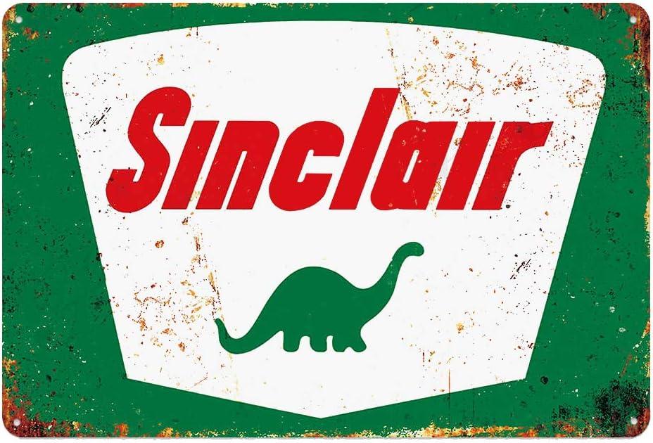 Standard Sinclair Tin Metal Wall Decoration, Original Design Thick Tinplate Wall Art Sign for Man Cave/Garage