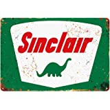 Standard Sinclair Tin Metal Wall Decoration, Original Design Thick Tinplate Wall Art Sign for Man Cave/Garage