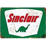 Sinclair Tin Metal Wall Decoration, Original Design Thick Tinplate Wall Art Sign for Man Cave/Garage