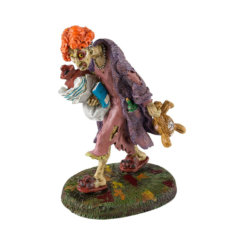 Department 56 Snow Village Halloween Sleepless Walking Zombie Accessory Figurine, 3.15 inch