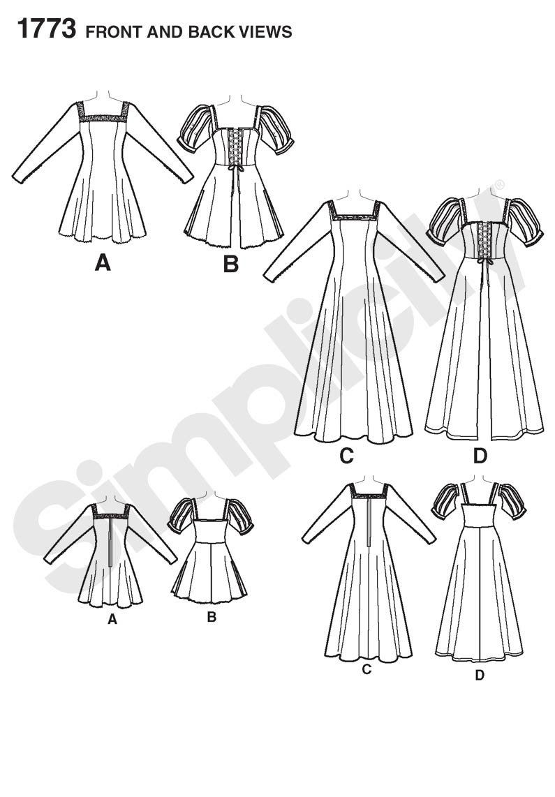 Size P5 12-14-16-18-20 Simplicity 1773 Misses Steampunk Costume Sewing Pattern