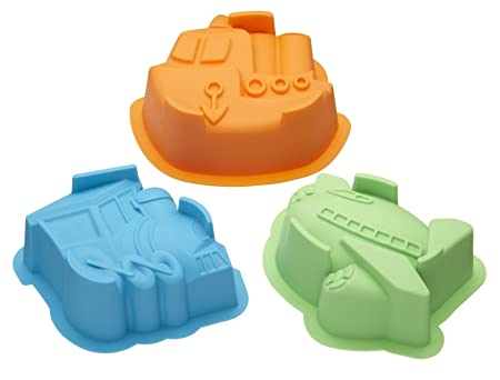 Kitchen Craft Let S Make Silicone Transport Cake And Jelly Moulds