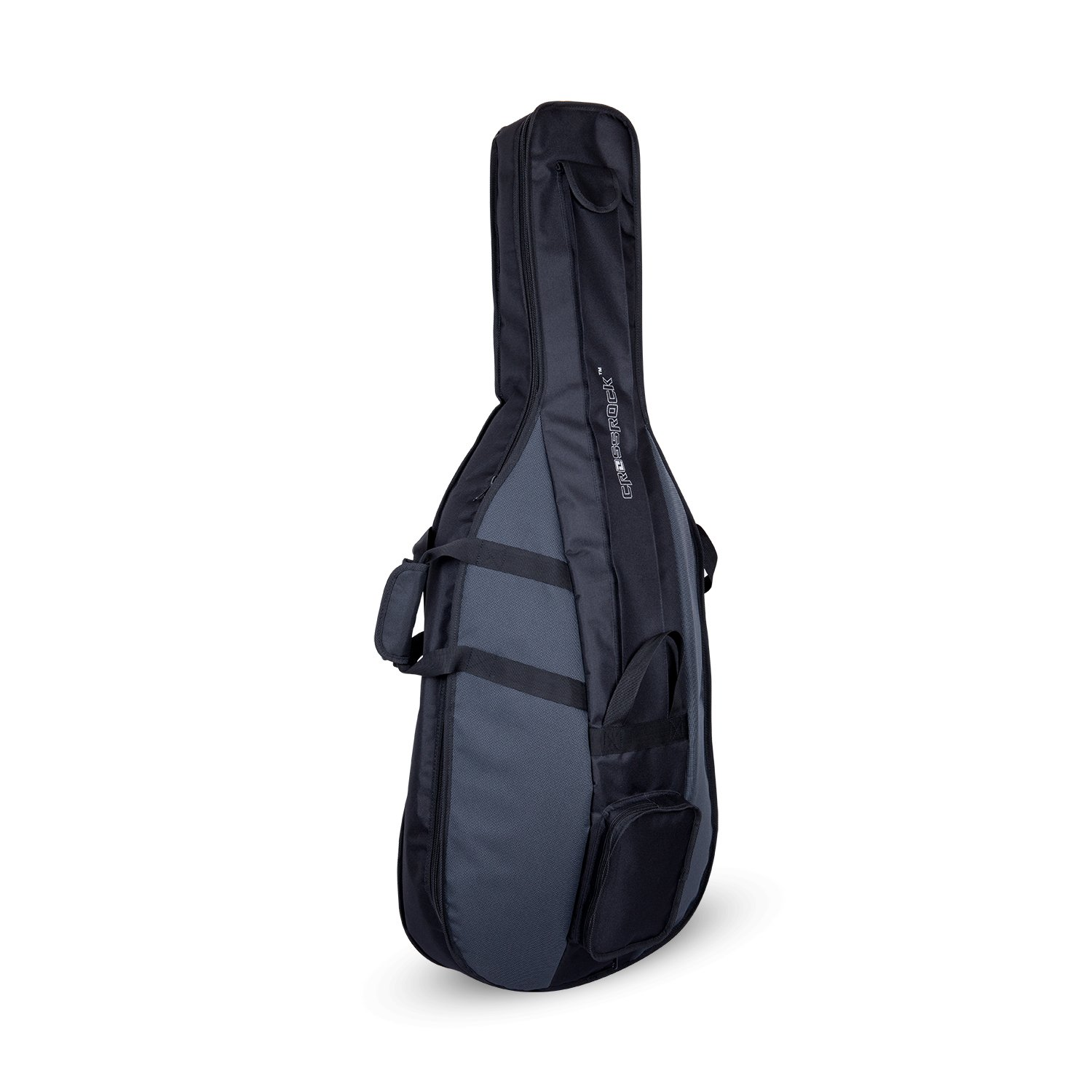 4/4 Cello Gig Bag - Standard Series Black/Grey by Crossrock (Image #1)