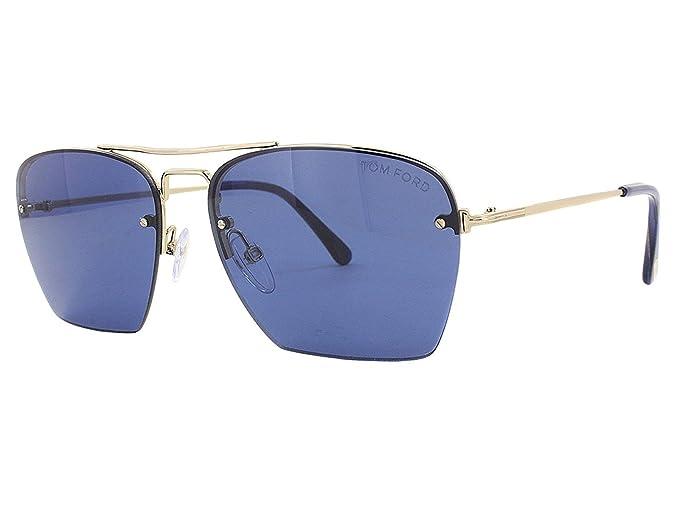 Tom Ford 28V, Gafas de Sol para Hombre, Shiny Rose Gold, 57 ...