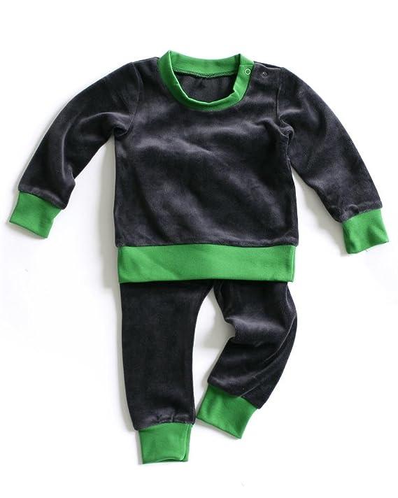 2aaf6aa99282 mundo melocoton Pyjama de 2 Pièces en Velours Framboise Vert 74-80 cm   Amazon.fr  Bébés   Puériculture