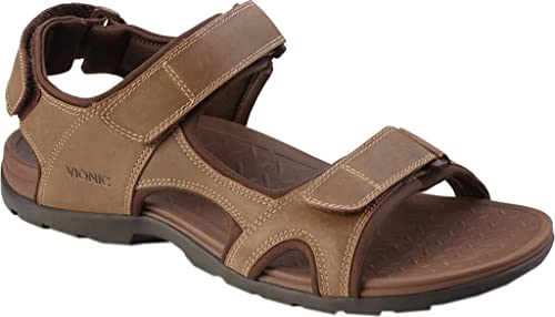 6a94e99882af Vionic Gerrit - Mens Adjustable Sandal Brown - 7  Amazon.ca  Shoes ...
