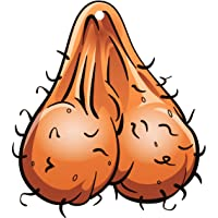 Rude Gifts - Testicles, Men Balls, Nuts Car Freshener - Great Stocking Filler for Women, Men, Wife, Husband, Mum, Dad, Girlfriend, Boyfriend, Man, Gents, Ladies - Office Gift, Secret Santa