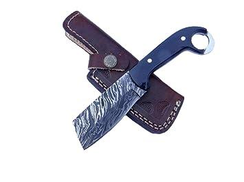 MagnamP - Cuchillo de Caza Hecho a Mano con Cuerno de búfalo ...