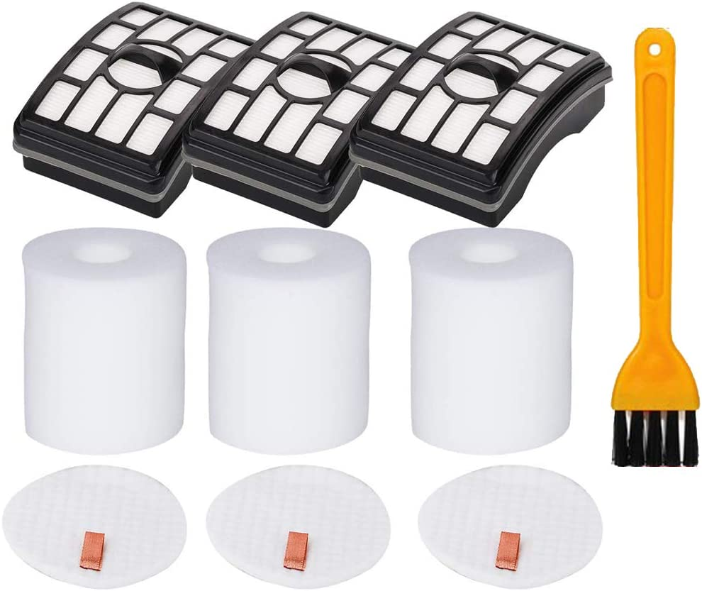 HIFROM Replace HEPA Filter and Foam & Felt Filter with Cleaning Brush Replacement for Shark Rotator Pro Lift-Away NV500 NV501 NV505 NV552 Replace Part# XHF500 XFF500
