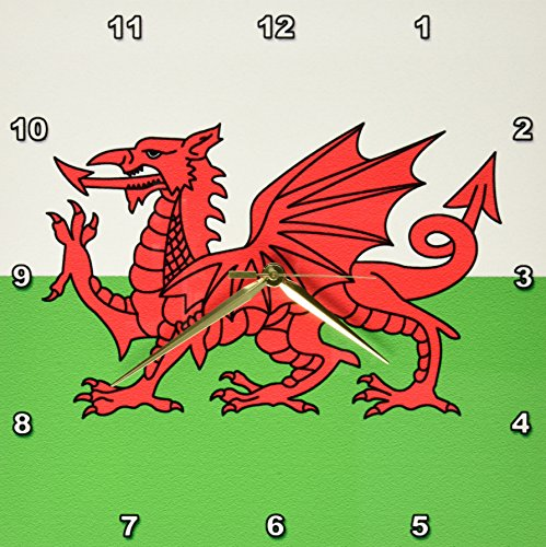 Flag of Wales-Welsh Red Dragon White  Green