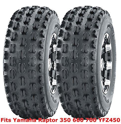 (2) 21x7-10 21x7x10 Yamaha Raptor 350 660 700 YFZ450 front GNCC Racing Tires ()