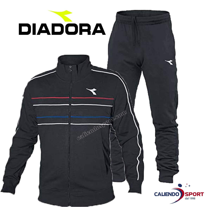Diadora Sport Men 102172673 HJ Cuff Suit - Nero Fumo, Small ...
