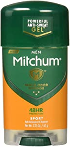 Mitchum Men Gel Antiperspirant Deodorant, Sport, 2.85 Ounce (Pack of 6)