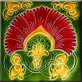 Art Nouveau Ceramic Tile 6 Inches Reproducction #000006