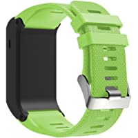 QGHXO Band for Garmin Vivoactive HR, Soft Silicone Replacement Watch Band ONLY for Garmin Vivoactive HR (No Tracker, Replacement Bands Only)