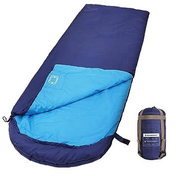 SONGMICS Saco de Dormir con Capucha para 7-15°C, Ligero y Portátil