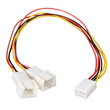 3Pin Computer PC Fan Power Cable Y-Splitter Connector Adapter 3-Pin to 2x 3-Pin