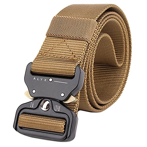 IDOGEAR 1.5 Inch Tactical Belt Quick Release Shooter Airsoft Hunting Shooting Combat Military Waist Belts Sports Outdoor Gear (Coyote Brown)