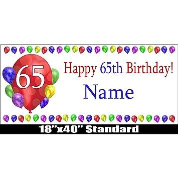 Amazon 65TH BIRTHDAY BALLOON BLAST CUSTOMIZABLE BANNER Health