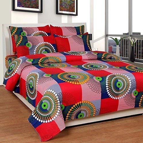 Shree Fashion Hub 100% Cotton Geometric Theme Printed Double Bedsheet With 2 Pillow Covers (B06XZZ5153) Amazon Price History, Amazon Price Tracker