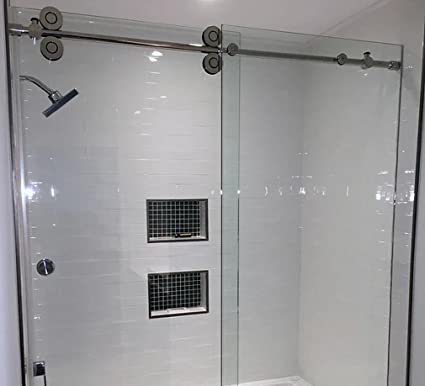 Fidgetgear 5ft Sliding Barn Shower Door Twin Roller