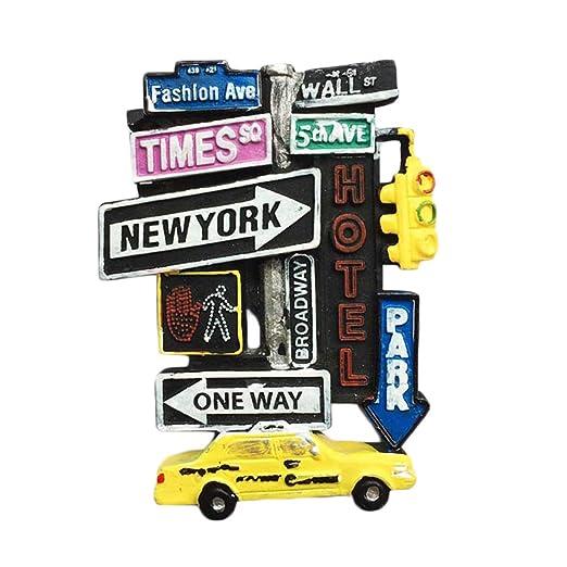 MUYU Magnet Imán 3D para Nevera de Nueva York EE. UU. Souvenir ...