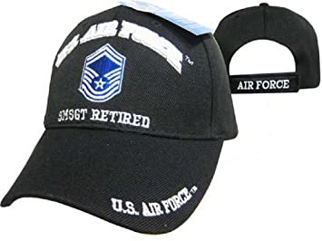 Amazon.com  U.S. Air Force SMSGT Retired Black USAF Embroidered Ball ... 98bfa7e68e54