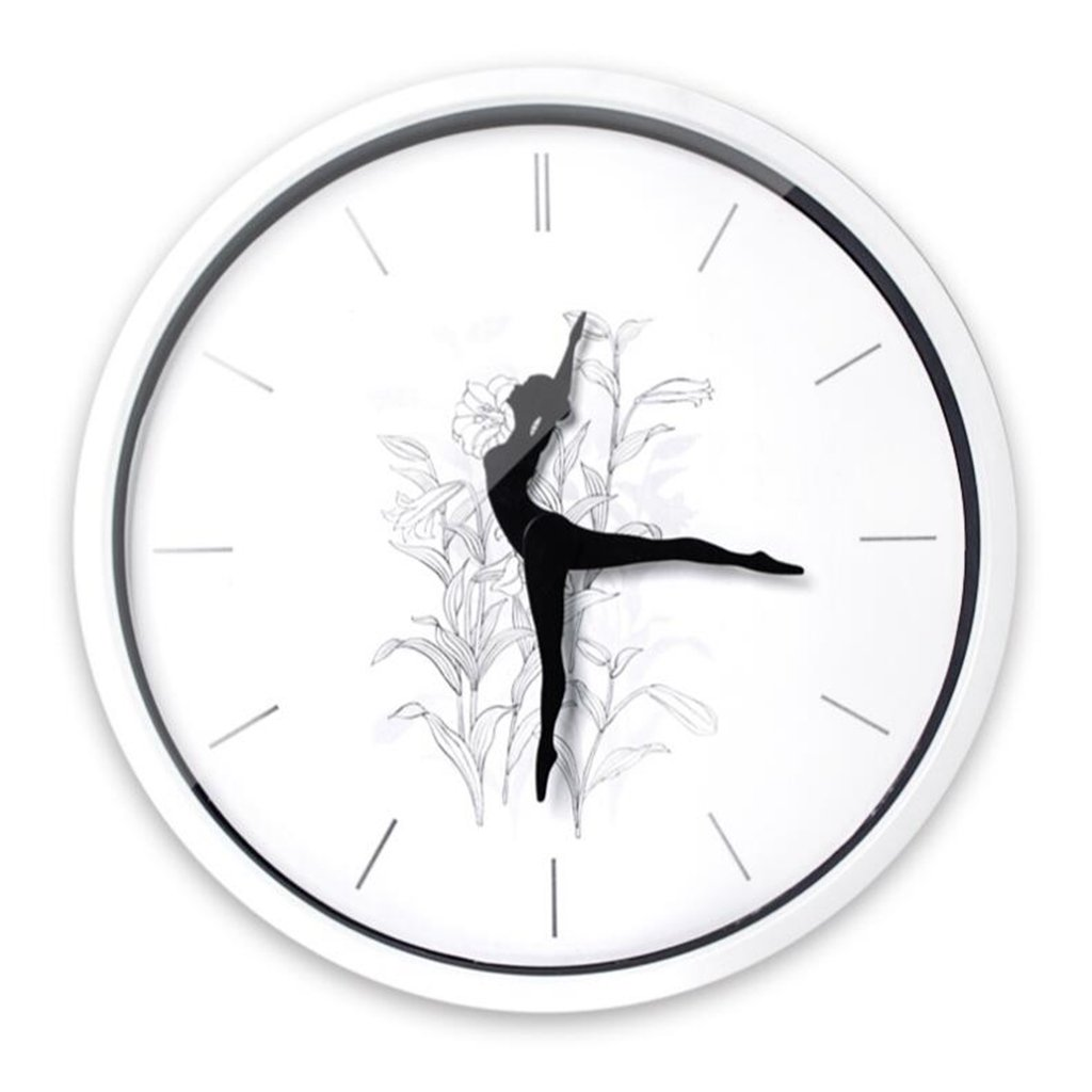 Sucastle Dancing, individuality, Clocks, stylish, creative, metal, wall clock (Without battery) GXFC