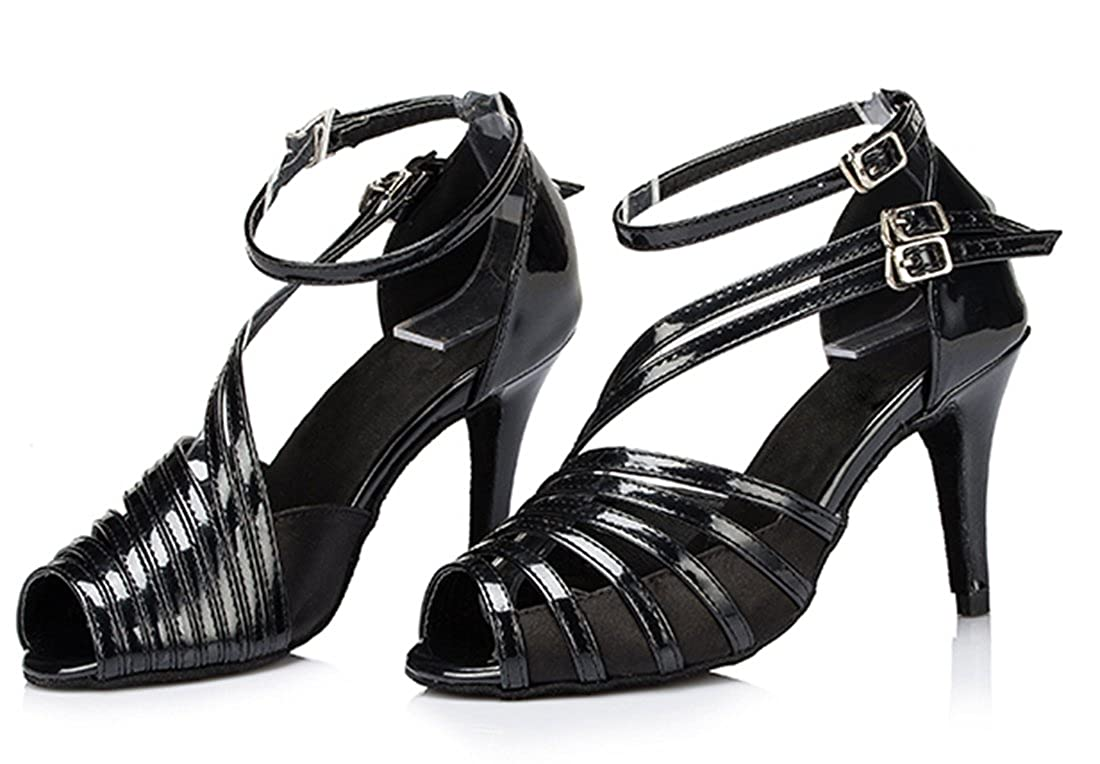 TDA Women's Ankle Strap Buckle Peep Toe Fashion Salsa Tango Tango Salsa Ballroom Latin Modern Dance Wedding Shoes B06XJ4CCQK Dance 74c247