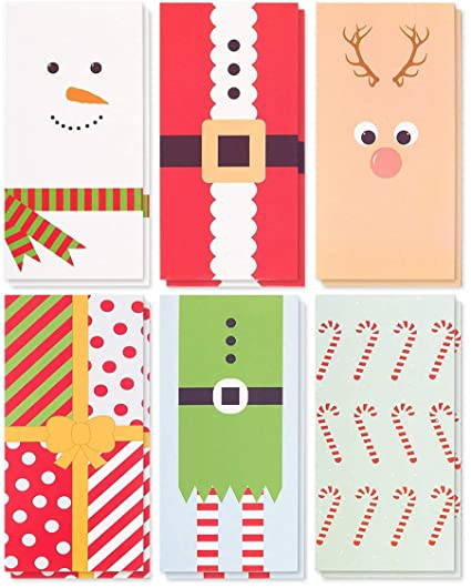 Amazon Com 36 Pack Merry Christmas Greeting Cards Xmas Money And