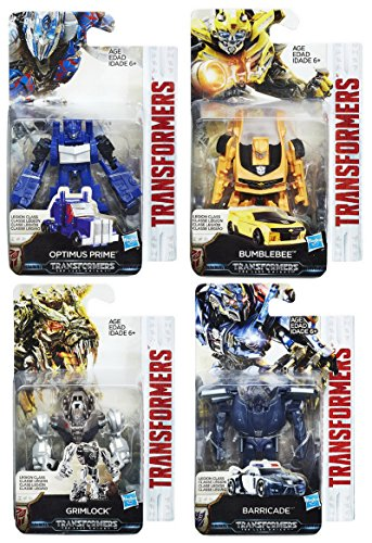 Set of 4: Transformers: The Last Knight Legion Class Wave 1 - Barricade, Optimus Prime, Bumblebee, (Bumblebee From Transformers 4)