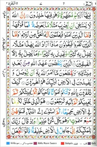Holy Quran, The (Color Coded Tajweed Rules in English