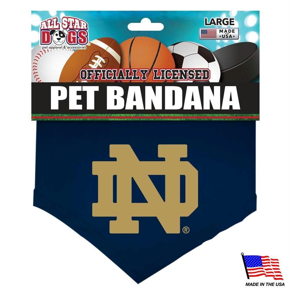 Notre Dame Fighting Irish Pet Bandana - Large