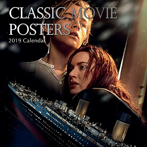 2019 Wall Calendar - Classic Movie Posters Calendar, 12 x 12 Inch Monthly View, 16-Month, Movies Theme, Includes 180 Reminder Stickers