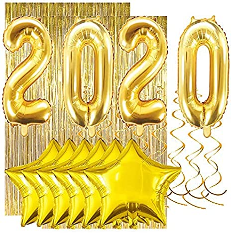 "10/"" PLAIN Silver,Gold /& Black Balloons Party Celebration New Year Eve Graduation"