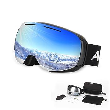 d156fb8ef7504e AUWOD Lunettes de Ski Interchangeables Magnétiques Masques Snowboard  Lentille Anti-UV400, Anti-Buée