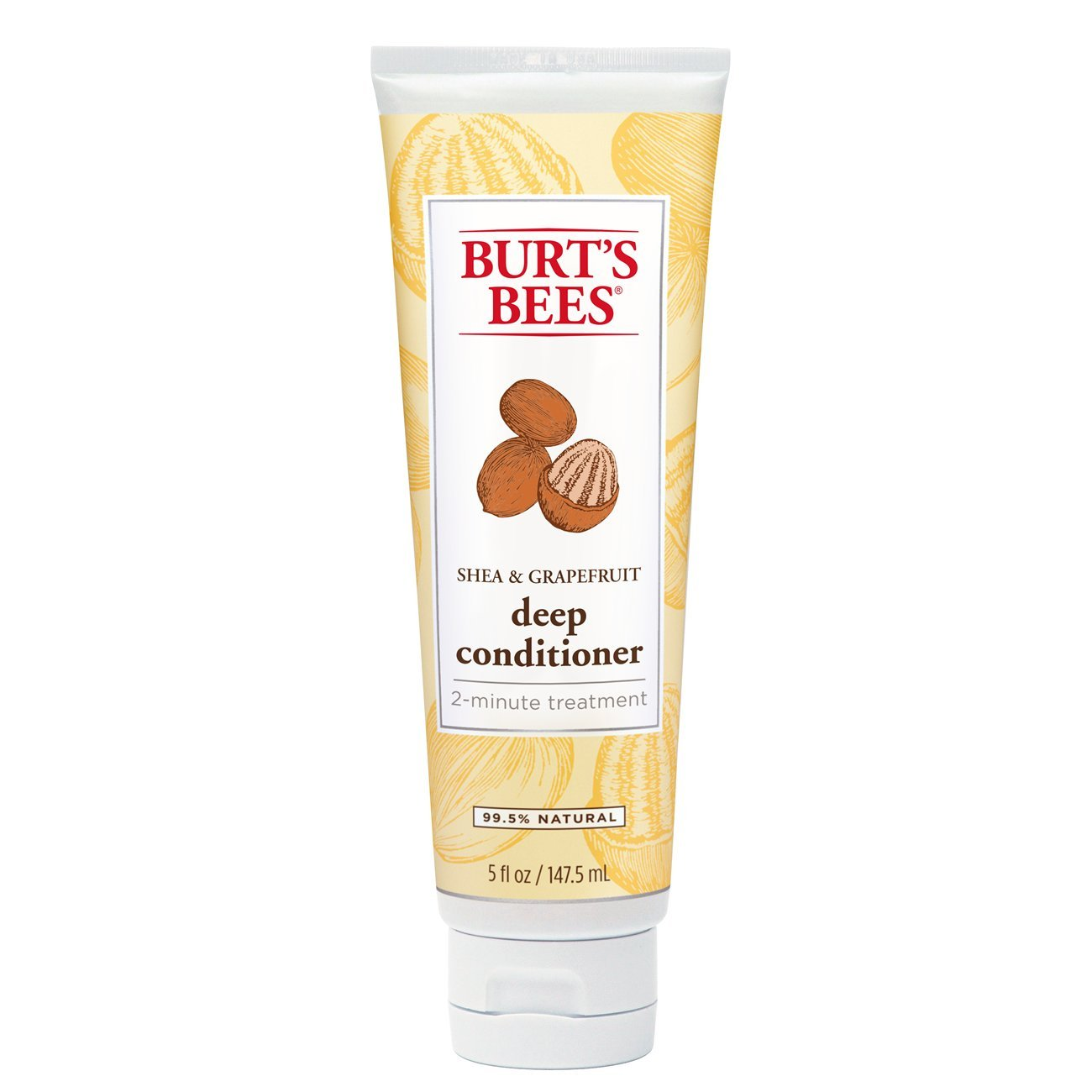Burt's Bees Hair Repair Shea and Grapefruit Deep Conditioner, Sulfate-Free Conditioner - 5 Ounce Bottle Burt' s Bees hbf-jjj-omgh-mh3180