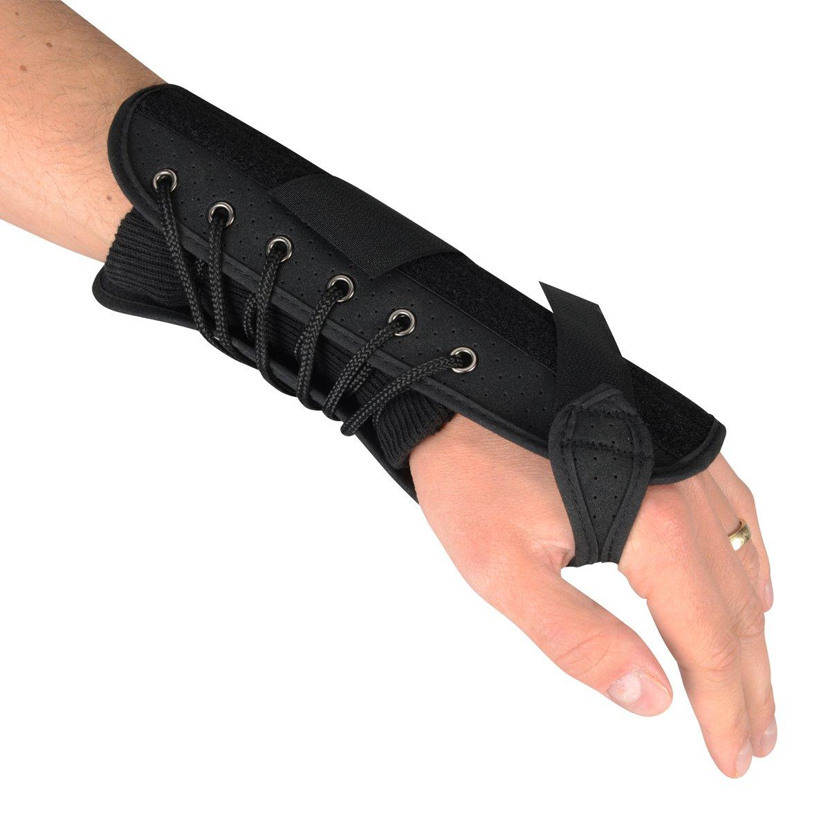 Luxury Quick Lace 7'' Compression Splint Support Wrist Brace - Right Hand - XL