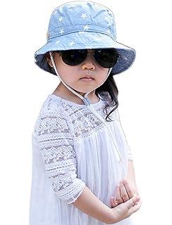 0cd1cab0a2f COMVIP Baby Cute Cotton Sun Protective Lightweight Bucket Sun Hat ...